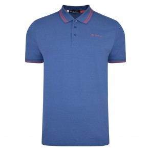 Ben Sherman Tipped Pique Polo Shirt - Indigo