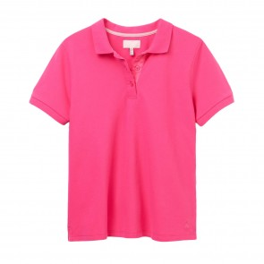 Joules Womens Pippa Plain Polo Shirt - Pink