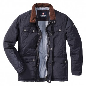 Redpoint Diamond Padded Quilted Quentin Jacket - Navy