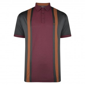 Gabicci AW19 Contrast Panel Patterned Polo Shirt